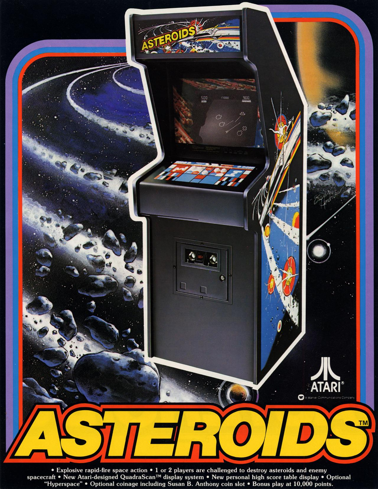Image result for Asteroids arcade game