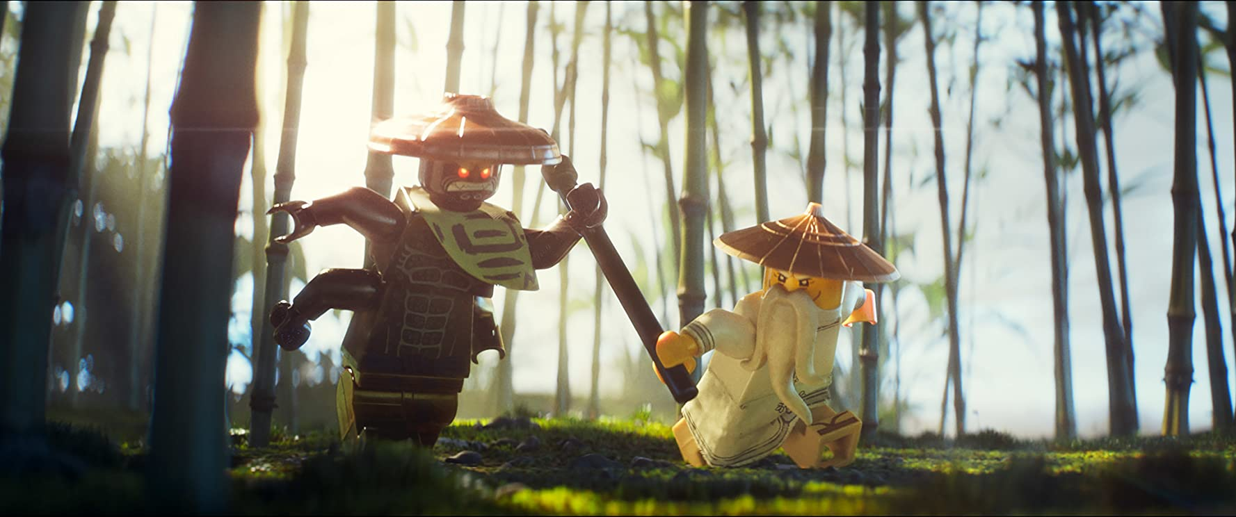 Jackie Chan and Justin Theroux in The Lego Ninjago Movie (2017)