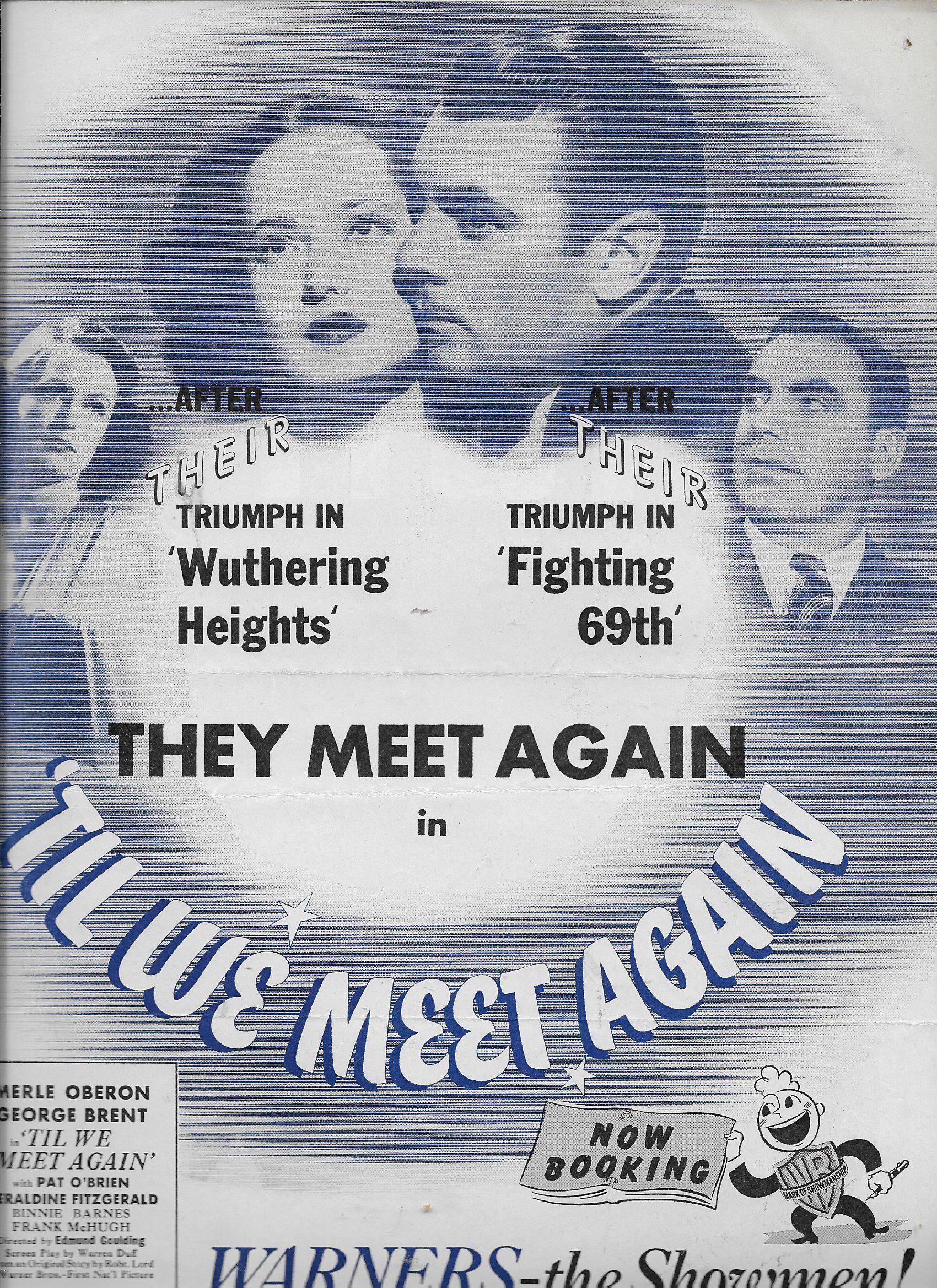 Pat O'Brien, George Brent, Geraldine Fitzgerald, and Merle Oberon in 'Til We Meet Again (1940)
