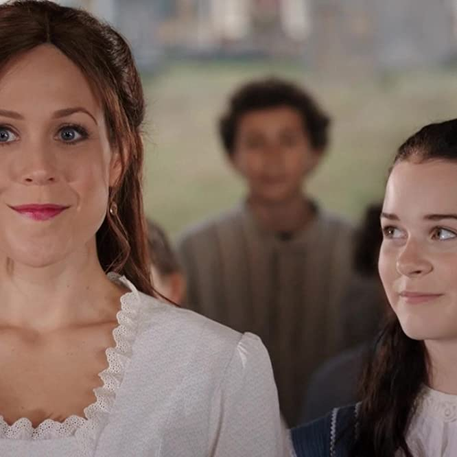 Erin Krakow and Imogen Tear in When Calls the Heart (2014)