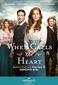 Lori Loughlin, Jack Wagner, Daniel Lissing, and Erin Krakow in When Calls the Heart (2014)