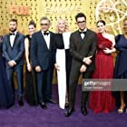 Catherine O'Hara, Emily Hampshire, Eugene Levy, Jennifer Robertson, Karen Robinson, Sarah Levy, and Dan Levy at an event for The 71st Primetime Emmy Awards (2019)