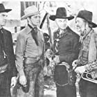 William Boyd, Alexander Cross, Russell Hayden, and George 'Gabby' Hayes in Texas Trail (1937)