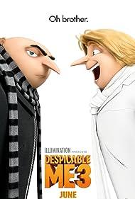 Trey Parker, Steve Carell, Kristen Wiig, Miranda Cosgrove, Dana Gaier, and Nev Scharrel in Despicable Me 3 (2017)