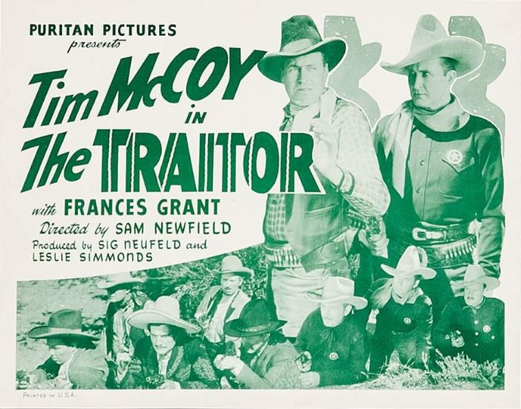 Tim McCoy, George Chesebro, Karl Hackett, Pedro Regas, Jack Rockwell, and Hal Taliaferro in The Traitor (1936)
