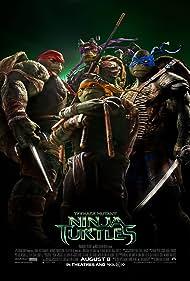 William Fichtner, Will Arnett, Noel Fisher, Jeremy Howard, Johnny Knoxville, Megan Fox, Alan Ritchson, and Pete Ploszek in Teenage Mutant Ninja Turtles (2014)