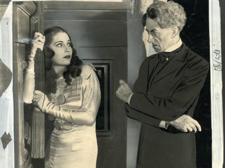 Valerie Hobson and Ernest Thesiger in Bride of Frankenstein (1935)