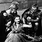 Vivien Leigh, Claude Rains, and Basil Sydney in Caesar and Cleopatra (1945)