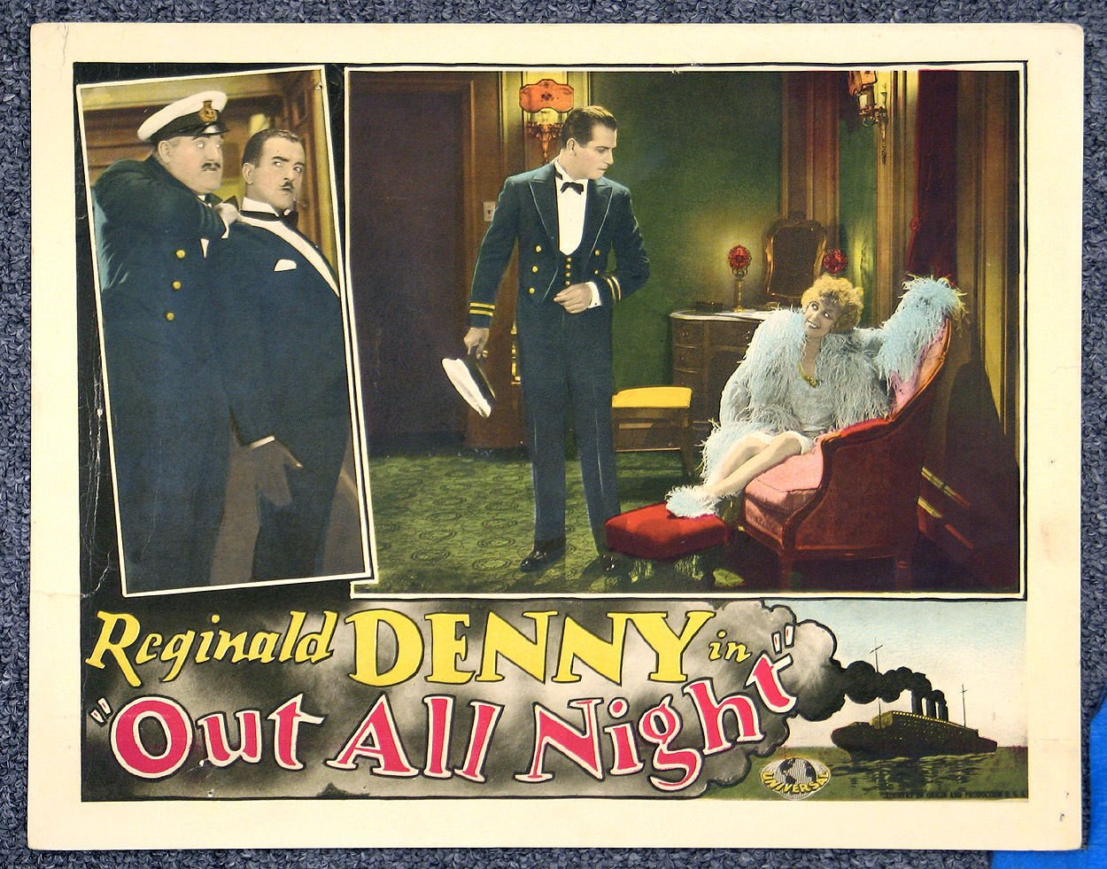 Alfred Allen, Reginald Denny, and Marian Nixon in Out All Night (1927)