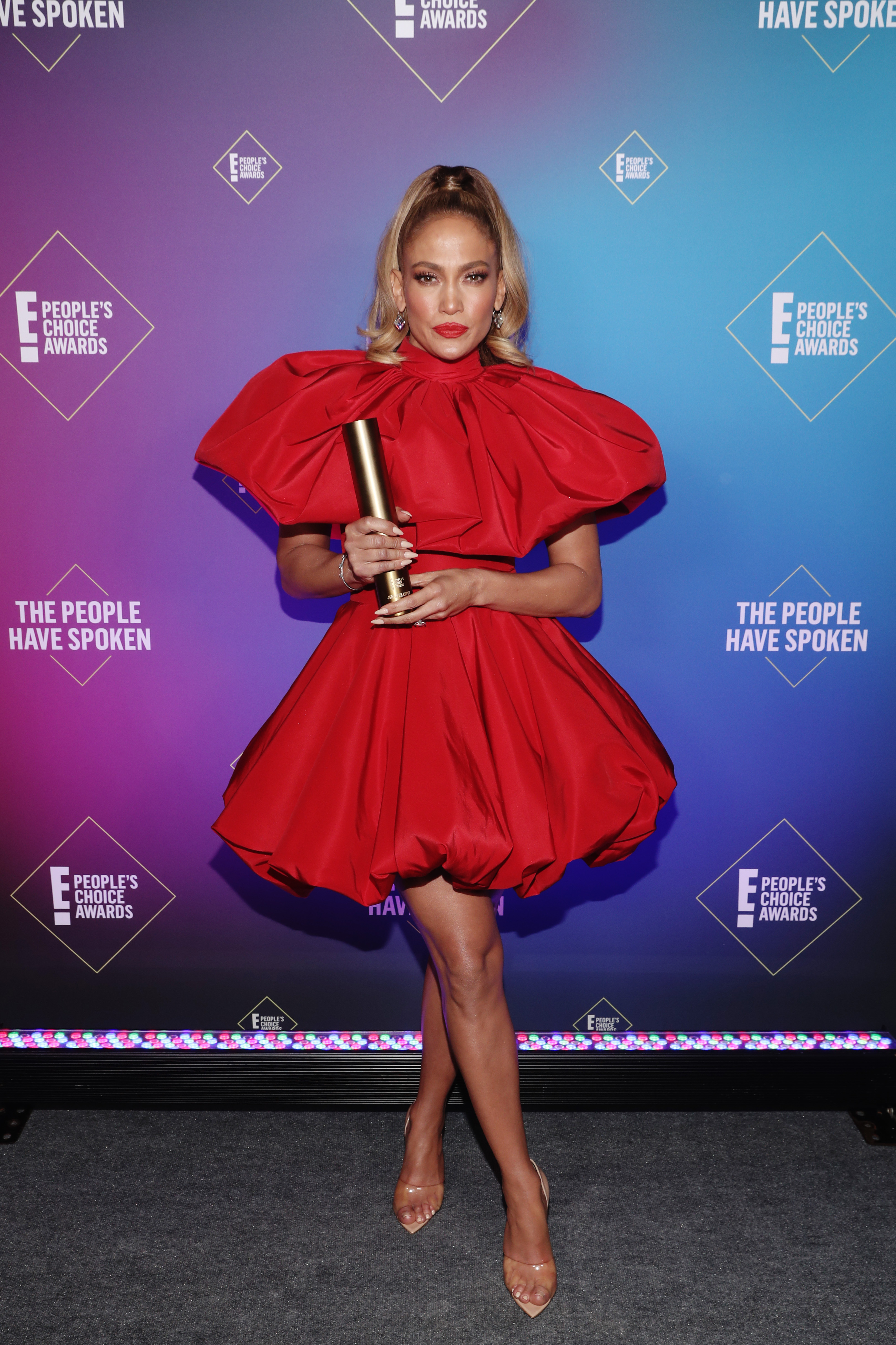 Jennifer Lopez at an event for The E! People's Choice Awards (2020)