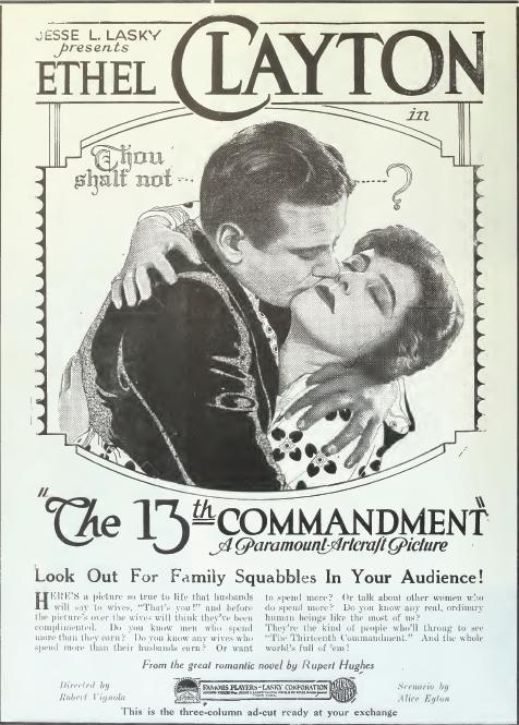 The Thirteenth Commandment (1920)
