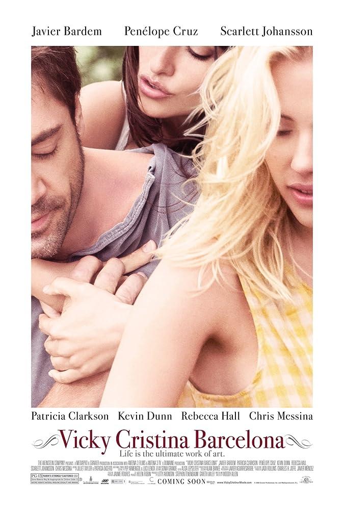 Javier Bardem, Penélope Cruz, and Scarlett Johansson in Vicky Cristina Barcelona (2008)