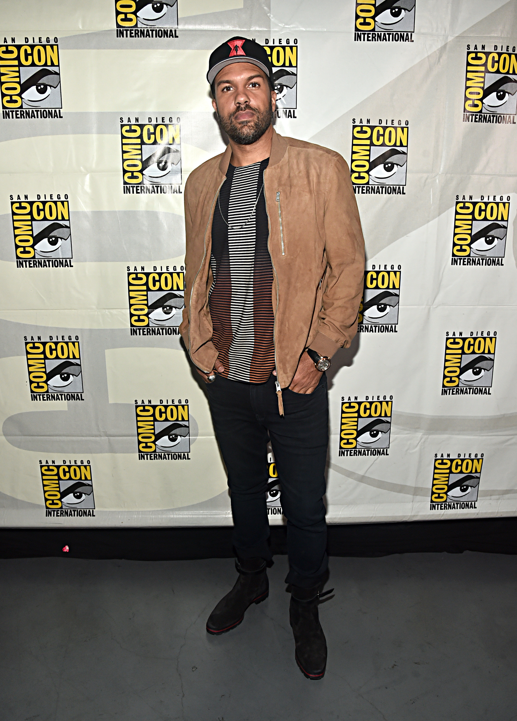 O-T Fagbenle at an event for Black Widow (2021)