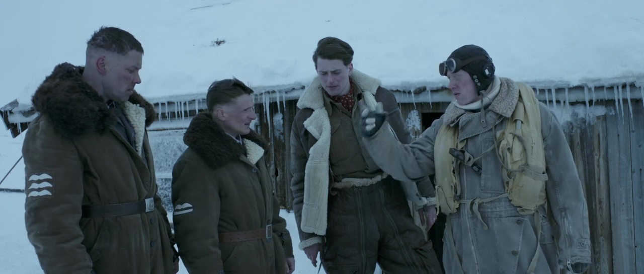 Rupert Grint, Stig Henrik Hoff, Florian Lukas, and Lachlan Nieboer in Into the White (2012)