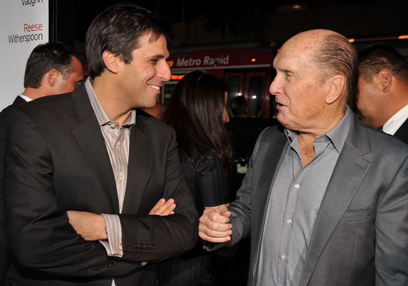 Producer Jonathan Glickman and actor Robert Duvall arrive on the red carpet of the Los Angeles Premiere of Four Christmases (2008) held at the Grauman's Chinese Theater on November 20, 2008 in Hollywood, California.