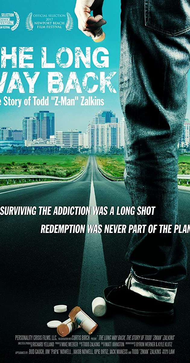 Subtitle of The Long Way Back: The Story of Todd Z-Man Zalkins