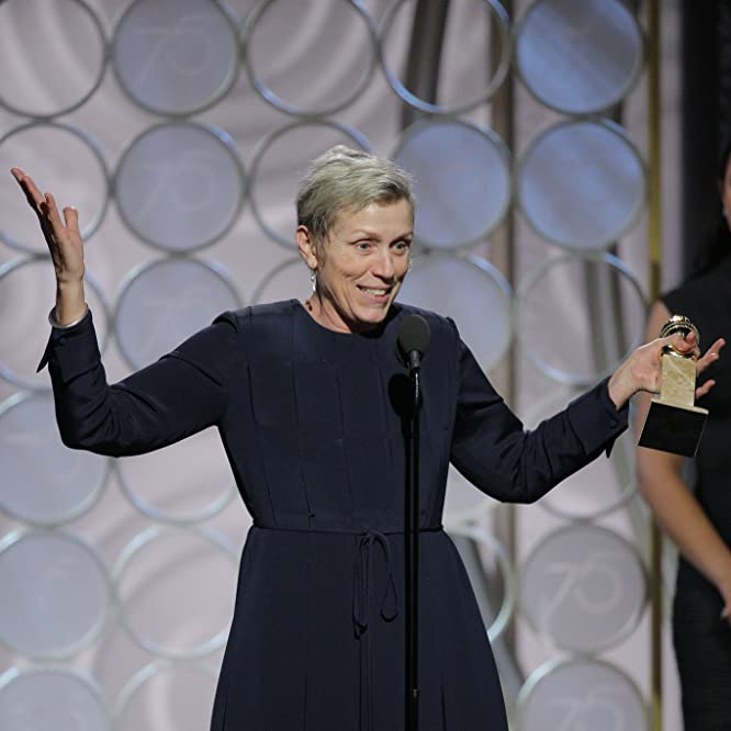 Frances McDormand at an event for 75th Golden Globe Awards (2018)