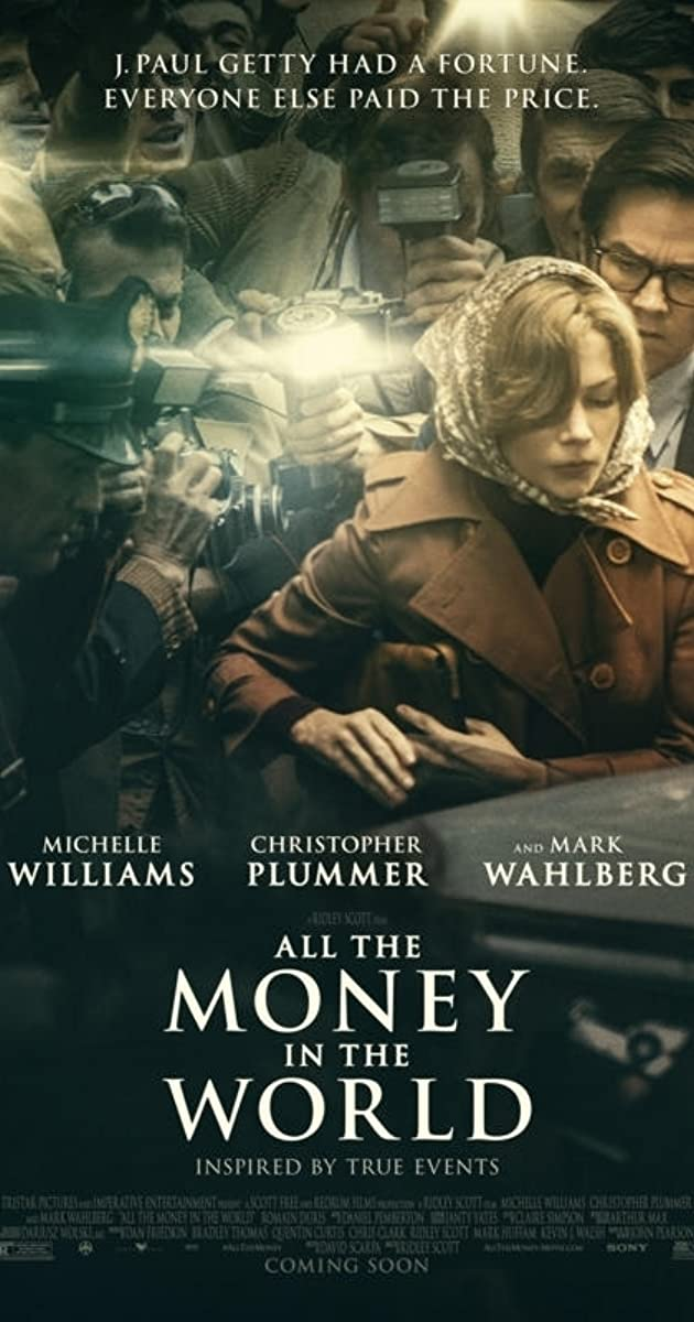 Image result for All the money in the world poster