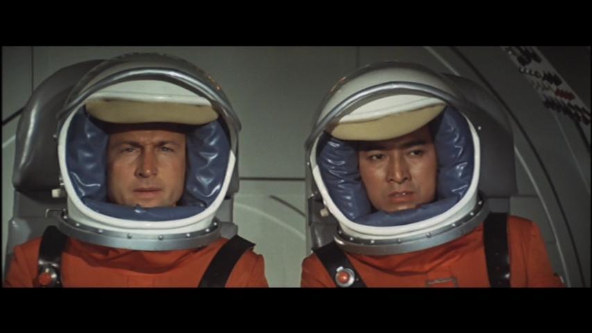 Nick Adams and Akira Takarada in Kaijû daisensô (1965)