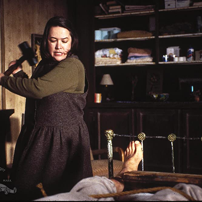 Kathy Bates and James Caan in Misery (1990)