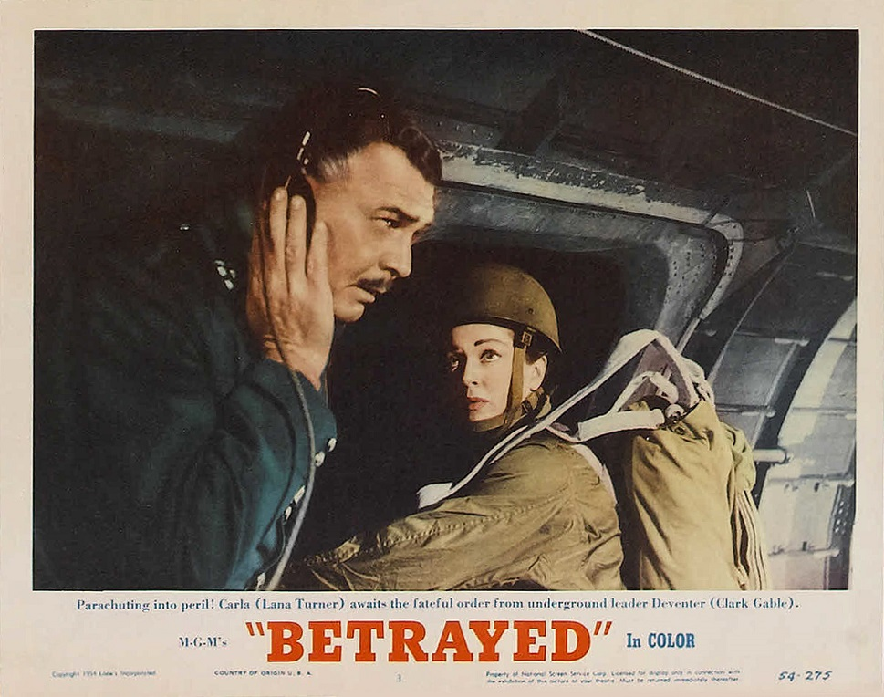 Clark Gable and Lana Turner in Betrayed (1954)