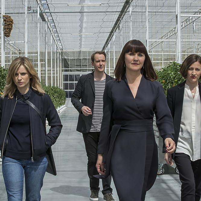 Esther Hall, Jonas Karlsson, Kelly Macdonald, and Faye Marsay in Black Mirror (2011)