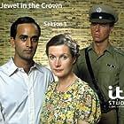 Art Malik, Tim Pigott-Smith, and Susan Wooldridge in The Jewel in the Crown (1984)