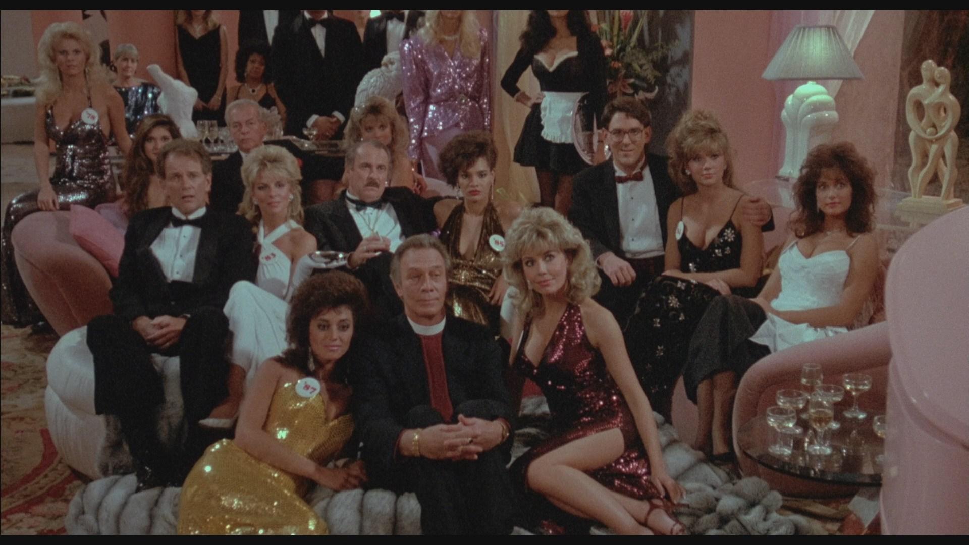 Dabney Coleman, Christopher Plummer, Ava Fabian, and Dona Speir in Dragnet (1987)
