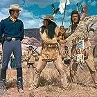 Jim Hutton, Martin Landau, and Robert J. Wilke in The Hallelujah Trail (1965)
