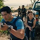 Yasmine Al-Bustami and Alex Tarrant in NCIS: Hawai'i (2021)