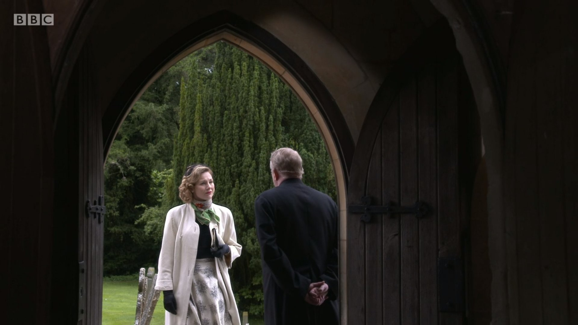 Nancy Carroll and Mark Williams in Father Brown (2013)