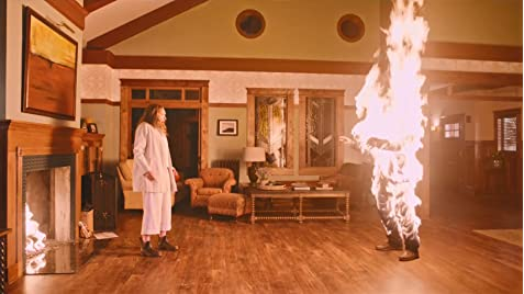 Hereditary flaming man scene