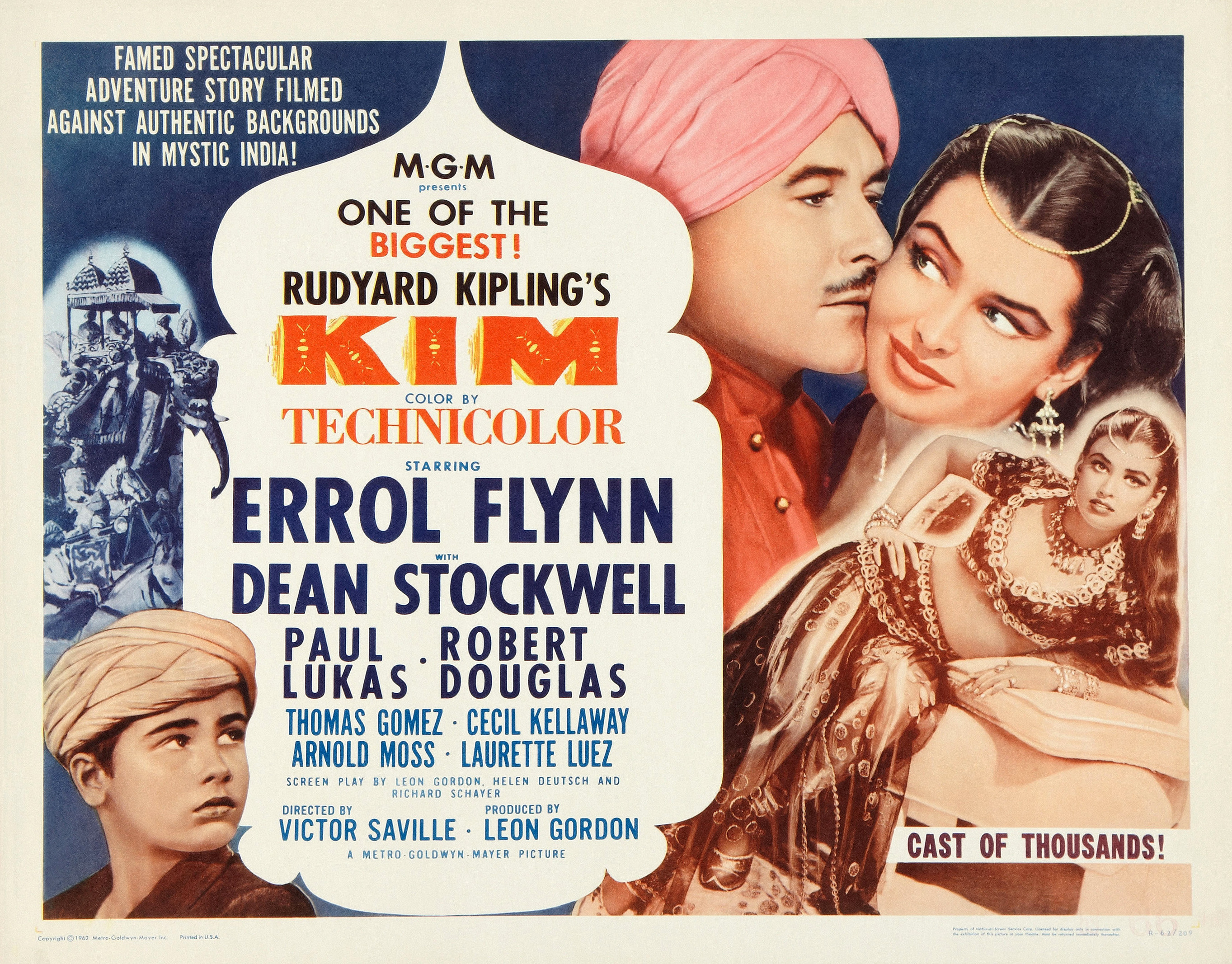 Errol Flynn and Laurette Luez in Kim (1950)