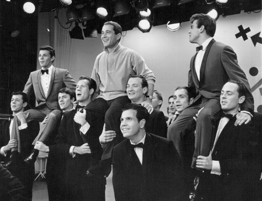 Frankie Avalon, Perry Como, and Tommy Sands in The Perry Como Show (1948)
