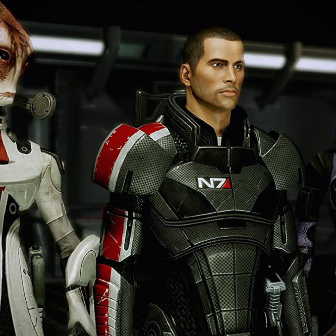 Michael Beattie, Mark Meer, and Ash Sroka in Mass Effect 2 (2010)