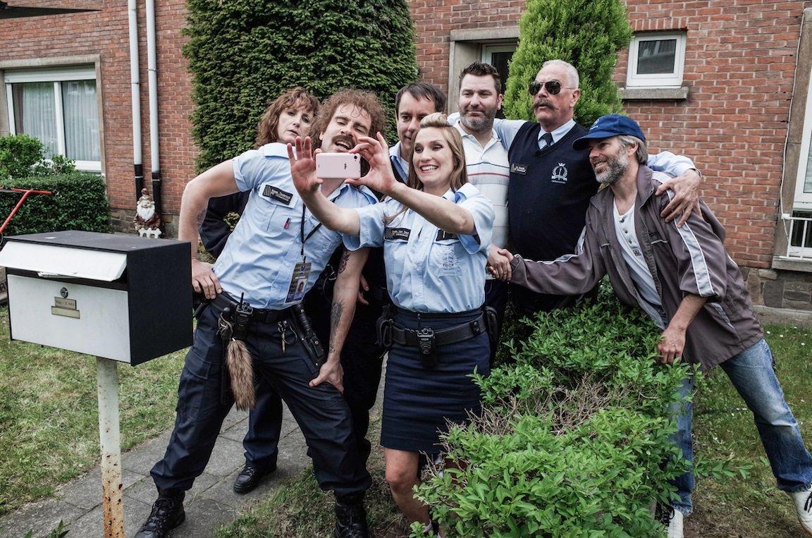 Gene Bervoets, Mieke De Groote, Nico Sturm, Kevin Janssens, and Eva Binon in Patrouille Linkeroever (2016)