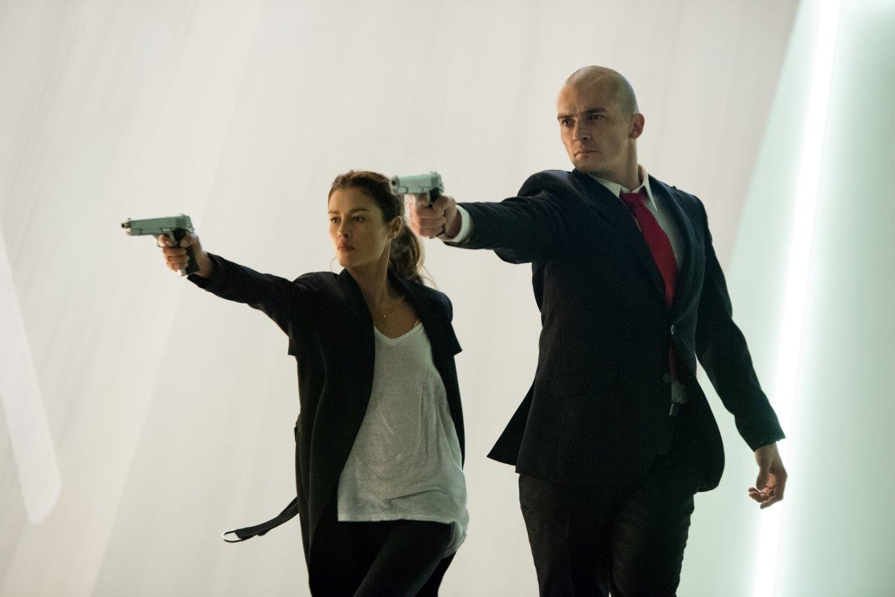 Rupert Friend and Hannah Ware in Hitman: Agent 47 (2015)