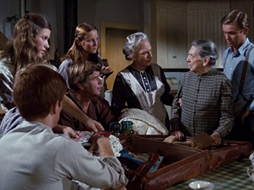 Richard Thomas, Judy Norton, Beulah Bondi, Ellen Corby, Mary Beth McDonough, and Ralph Waite in The Waltons (1972)