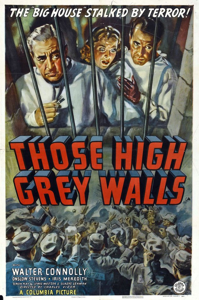 Walter Connolly, Iris Meredith, and Onslow Stevens in Those High Grey Walls (1939)