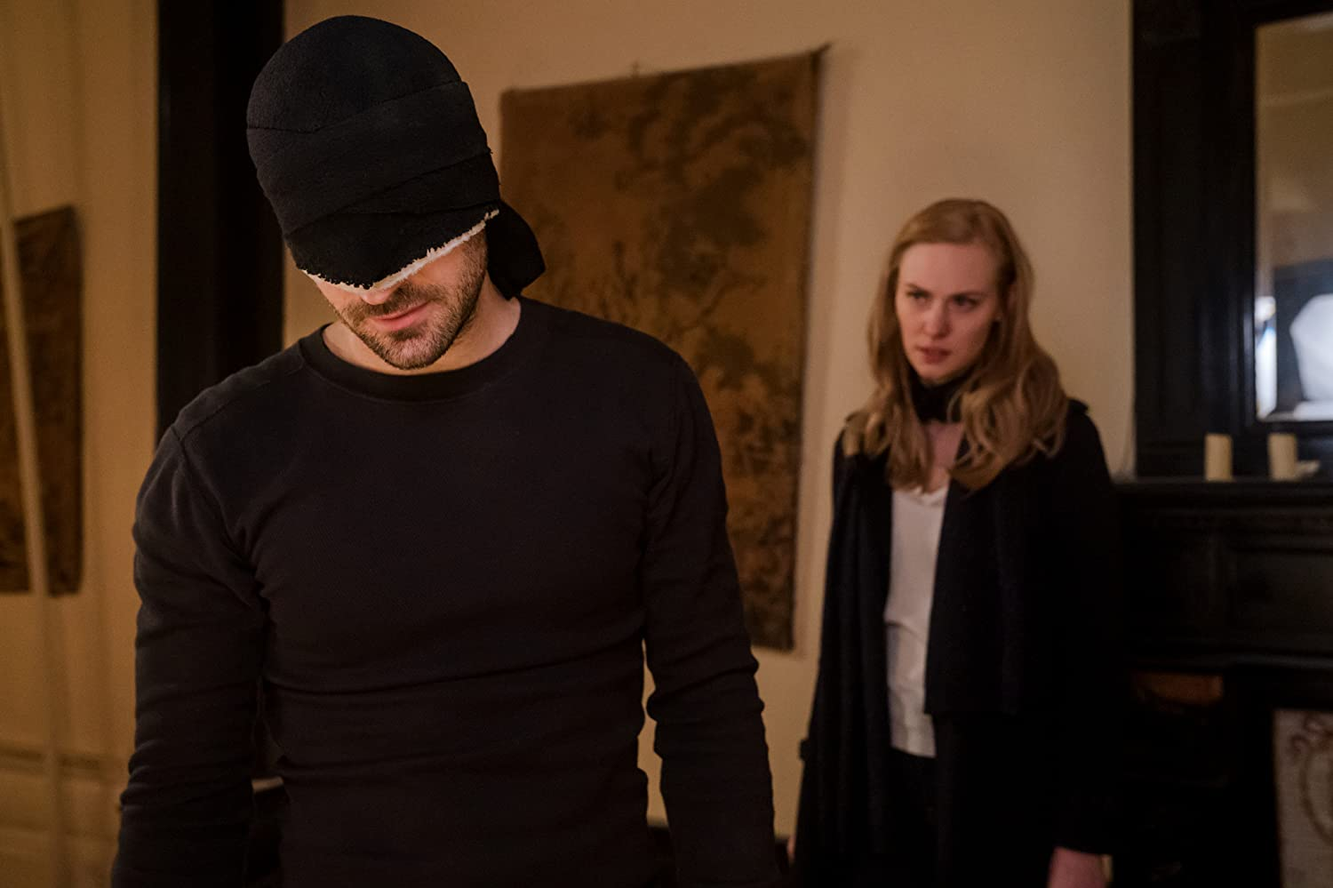 Charlie Cox and Deborah Ann Woll in Daredevil (2015)