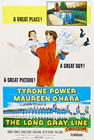 Maureen O'Hara and Tyrone Power in The Long Gray Line (1955)