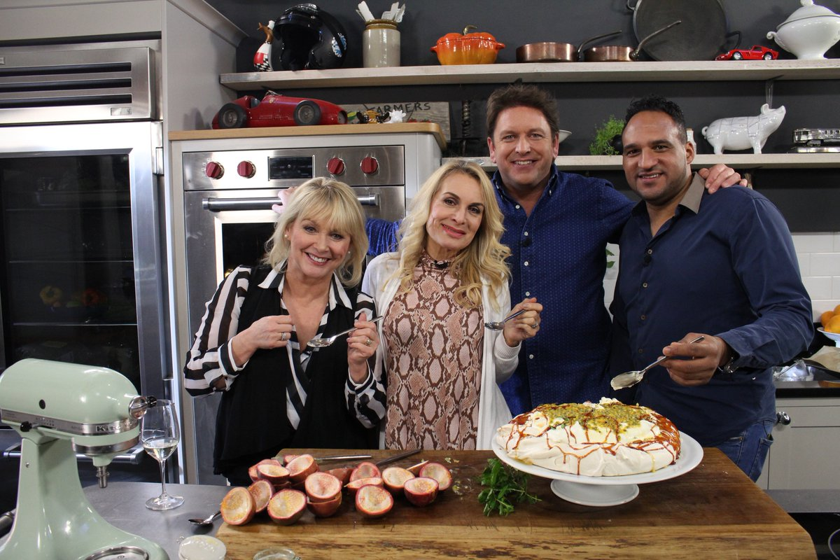 Cheryl Baker, James Martin, Jay Aston, and Michael Caines in Saturday Morning with James Martin (2017)