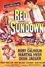 Rory Calhoun, Martha Hyer, and Grant Williams in Red Sundown (1956)
