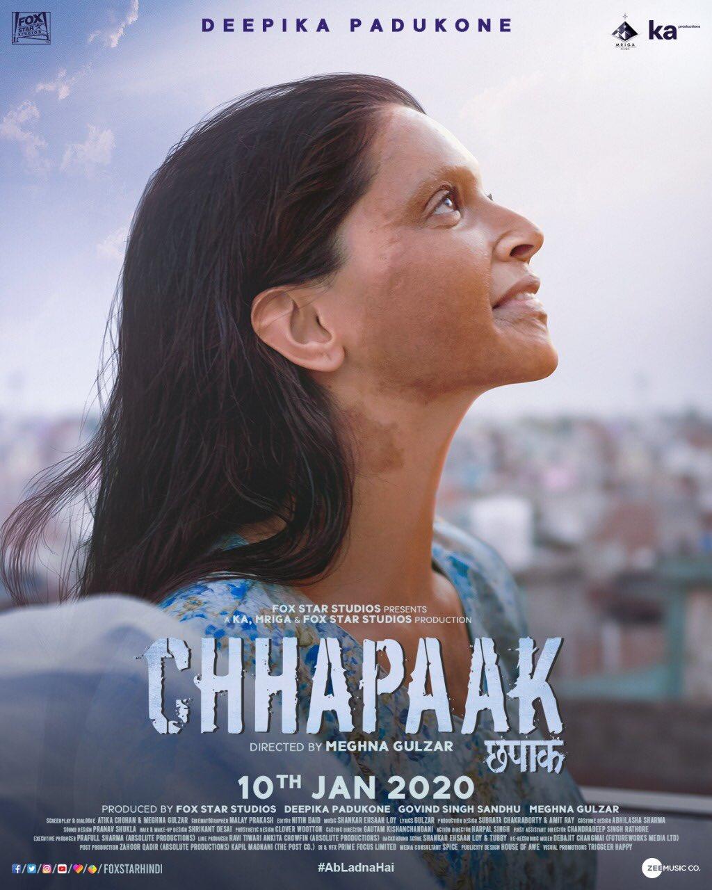Chhapaak (2020) Hindi Pre-DvDRip - 480P   720P - x264 - 400MB   700MB   1.2GB - Download & Watch Online  Movie Poster - mlsbd