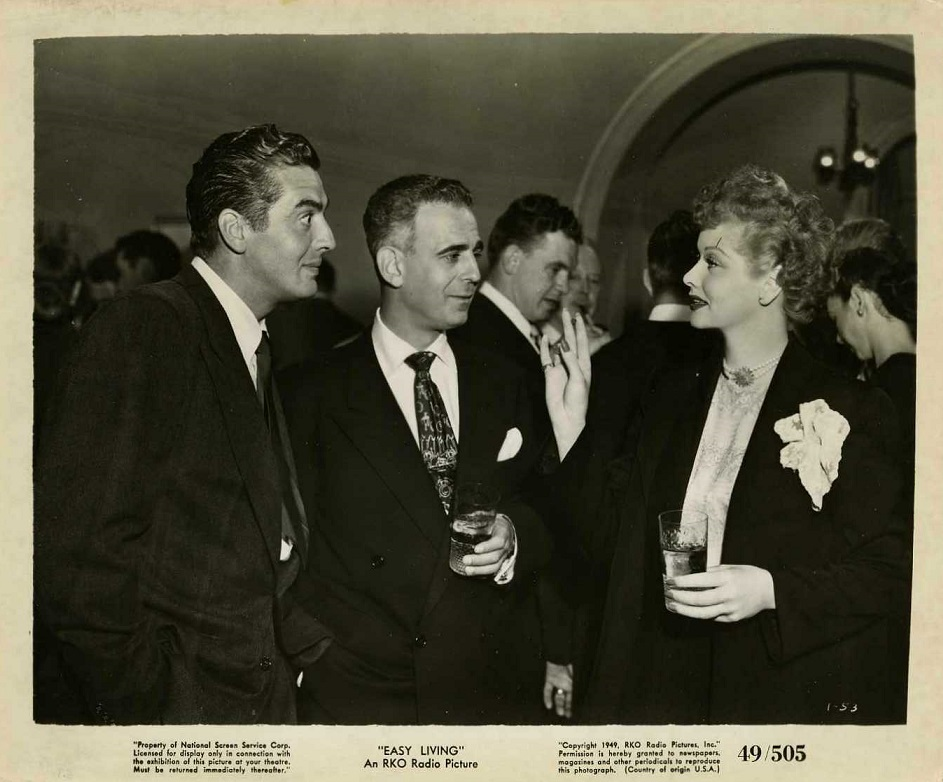 Lucille Ball, Victor Mature, and Paul Stewart in Easy Living (1949)