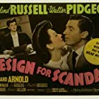 Walter Pidgeon and Rosalind Russell in Design for Scandal (1941)