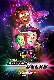 Jerry O'Connell, Dawnn Lewis, Fred Tatasciore, Gillian Vigman, Eugene Cordero, Noël Wells, Jack Quaid, and Tawny Newsome in Star Trek: Lower Decks (2020)