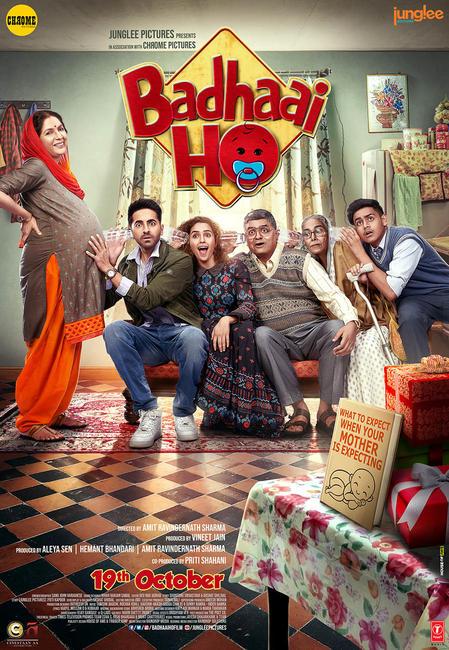 Badhaai Ho (2018) Hindi 480p BluRay x264 ESubs [350MB]