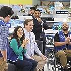 Mark McKinney, America Ferrera, Ben Feldman, Colton Dunn, and Ravi Patel in Superstore (2015)