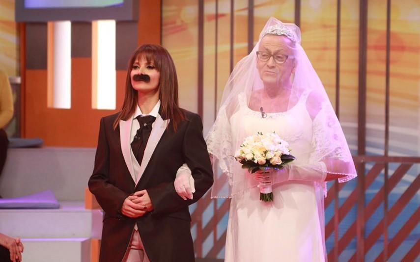 Manuel Luís Goucha and Cristina Ferreira in Você na TV! (2004)